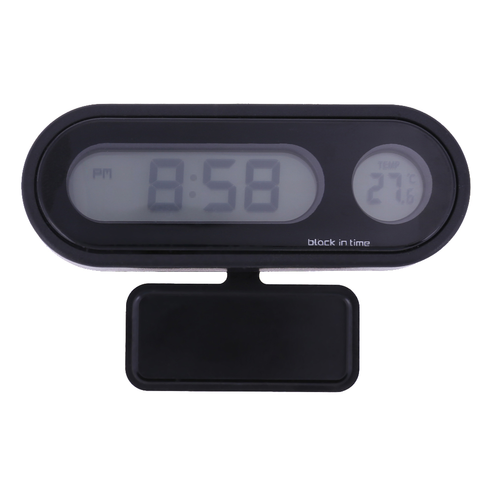 12/24 hours LED Display Car auto vehicle Thermometer Clock 2 in 1 Digital Automotive Temperature Meter Drop Shipping