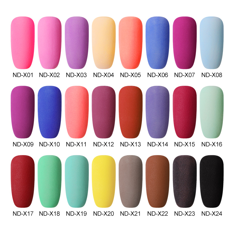 Image 2 - NICOLE DIARY 10g Matte Color Dipping Nail Powder Natural Dry Nail Art Decoration Without Lamp Cure Nail Dust Decors-in Nail Glitter from Beauty & Health