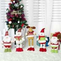 2018 Рождественский эластичный Санта-Клауса снеговик олень телескопическая кукла украшение Xmas дерево висячие украшения кулон подарок