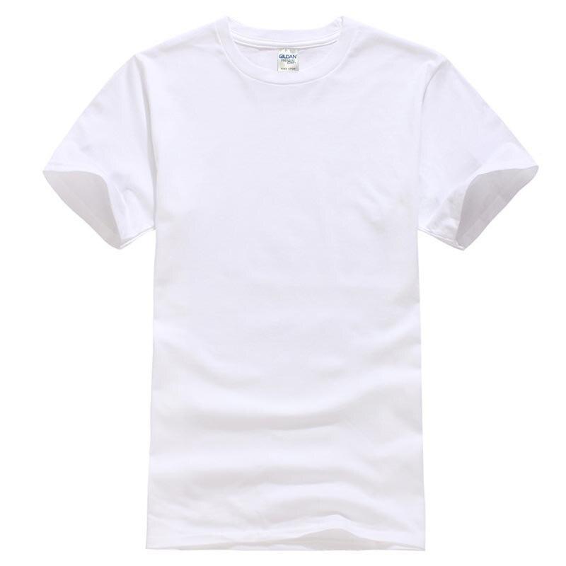 Blanc Hommes de Coton T-shirt
