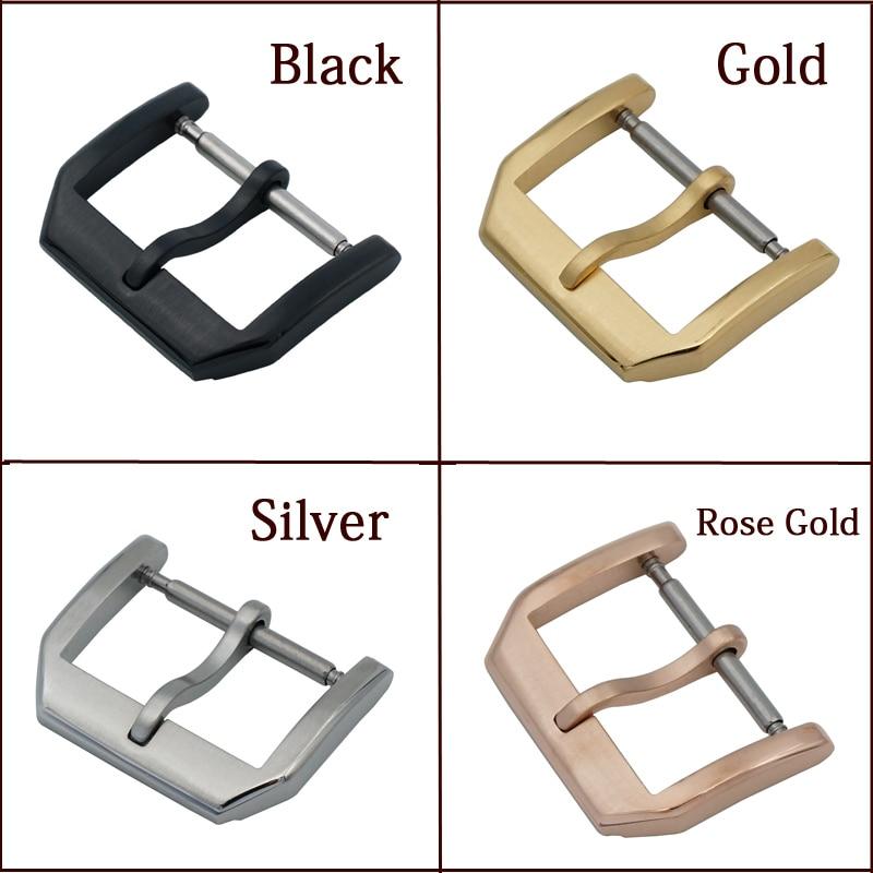 MAIKES Nyt 18mm 20mm guldurspænde læderurbånd 316L rustfrit stål - Tilbehør til ure - Foto 2