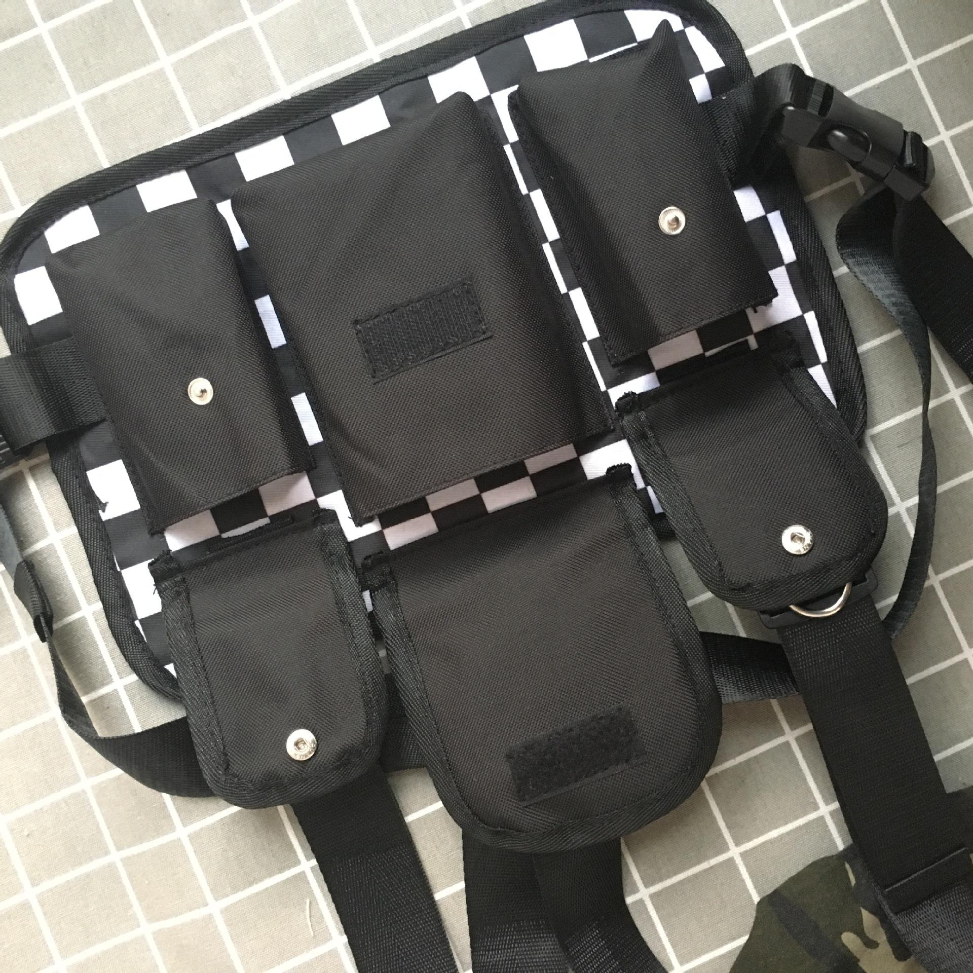 Black & White Checkered Chest Bag
