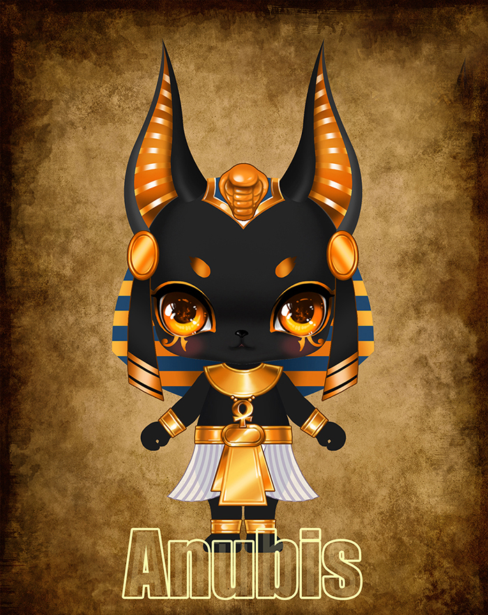 HeHeBJD 1/12 Anubis fantasy resin figures little bjd baby doll Palm dolls  toys gifts free shpping