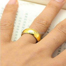 A Pair Of  Pure 999 Solid 24K Yellow Gold Ring Men's Smooth Wedding Band