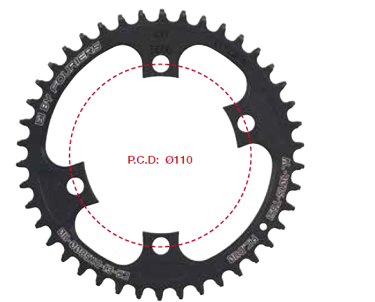 FOURIERS CR-E1-DX5800 110mm CNC single plate Road Bicycle Chainwheel With bike charing bolts & spacer ( for 105 /5800) 42/46T