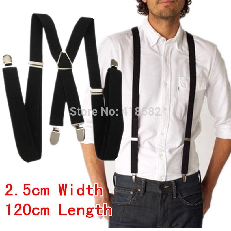 BD002-XL Size 2016 Newest Men's Suspenders 2.5 *120cm Four Clips-on Adjustable Women Braces Free Shipping