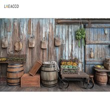 Laeacco Old Wooden Warehouse Rural Farm Jar Porch Floor Baby Portrait Photo Backgrounds Photography Backdrops For Studio