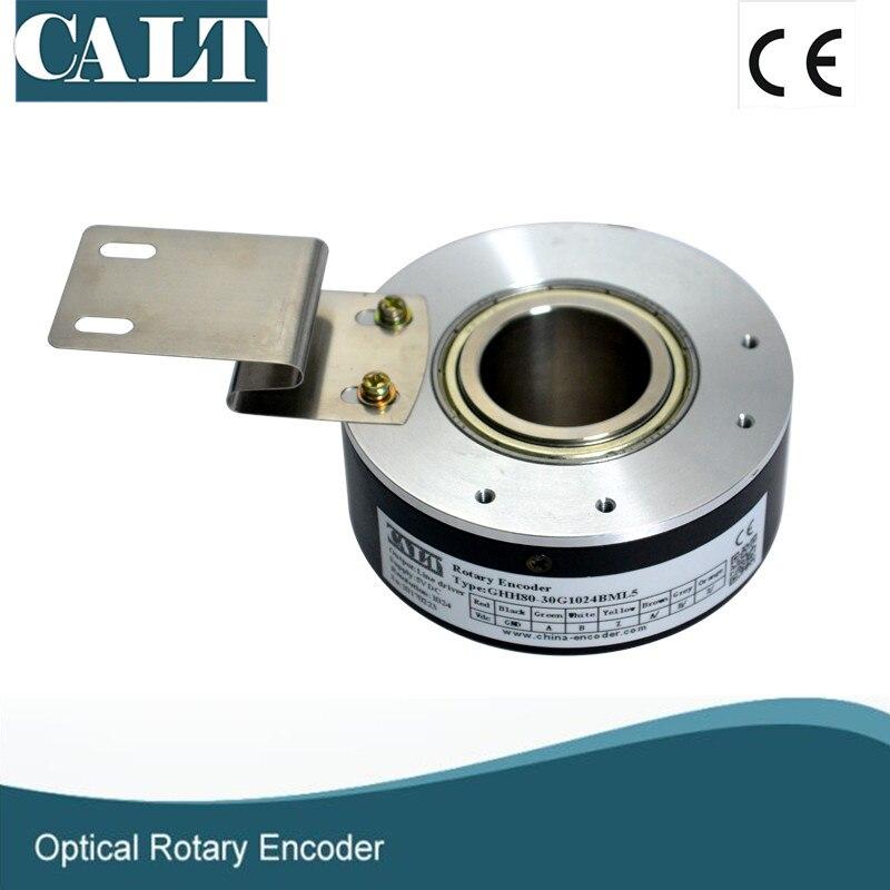 Série chinoise GHH80 25mm ouverture haute résolution 5000ppr encodeur à arbre creux sortie push pull