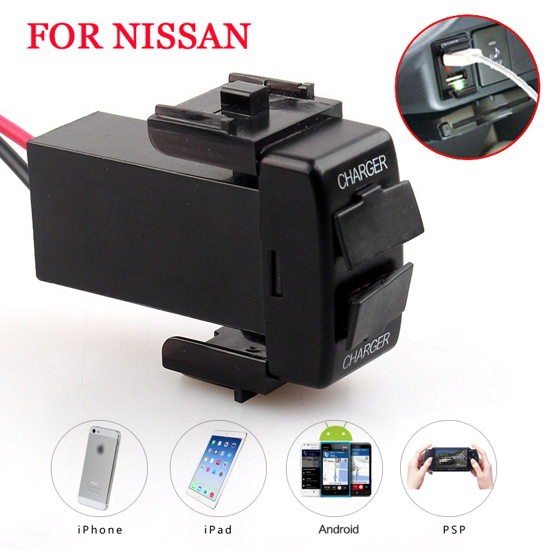 2.1 A Dual Port Charger Mini Usb Adapter 2 Usb Car Charger Interface Socket Fast For Nissan X-trail Sunny Nv200 Qashqai Tiida Regular Tea Drinking Improves Your Health Car Electronics