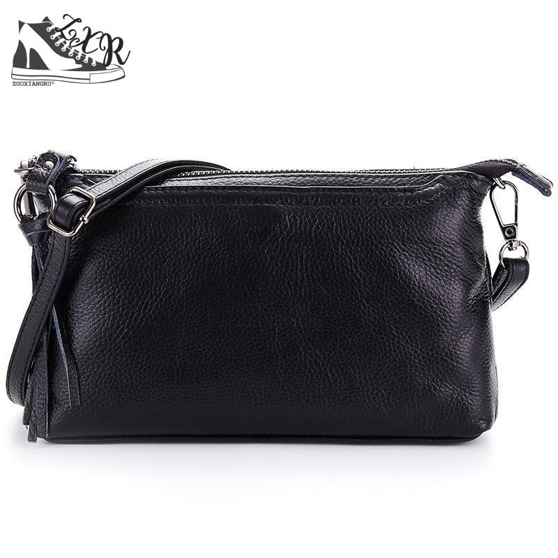 Zuoxiangru Women Shoulder Messenger Bags Genuine Leather Handbag Female Fashion Crossbody Bag Ladies Solid Small Tote Bag Purse стоимость