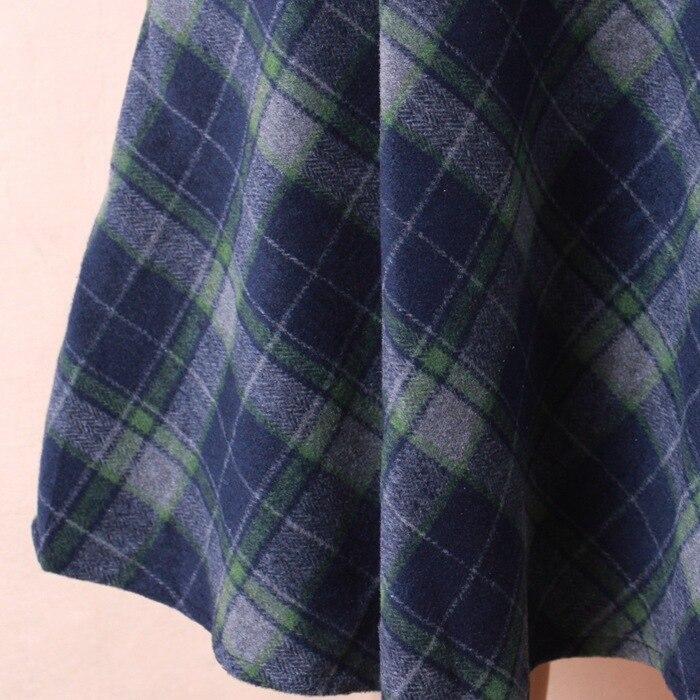 baf115d41d8c 2016 мода женщины винтаж шерстяные осень зима свободного покроя теплые  высокой ...