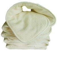 熱い! 4層10ピース/ロット竹炭布変える抗菌脱臭ベビーおむつ再利用可能なお