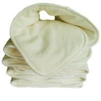 Hot 4 Layers 10 PCS Lot Bamboo Charcoal Cloth Changing Antibiosis Deodorization Baby Diapers Reusable Diaper