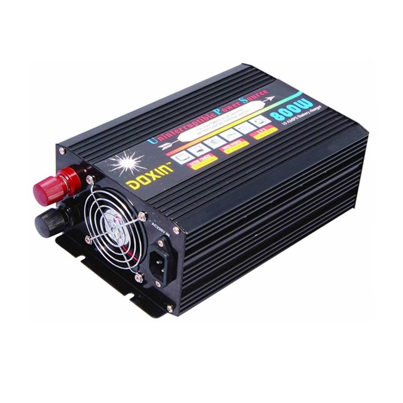 цена на DC12V/24V to AC220V 50HZ 800W Modified Sine Wave Inverter With 10A Battery Charger UPS Power Inverter