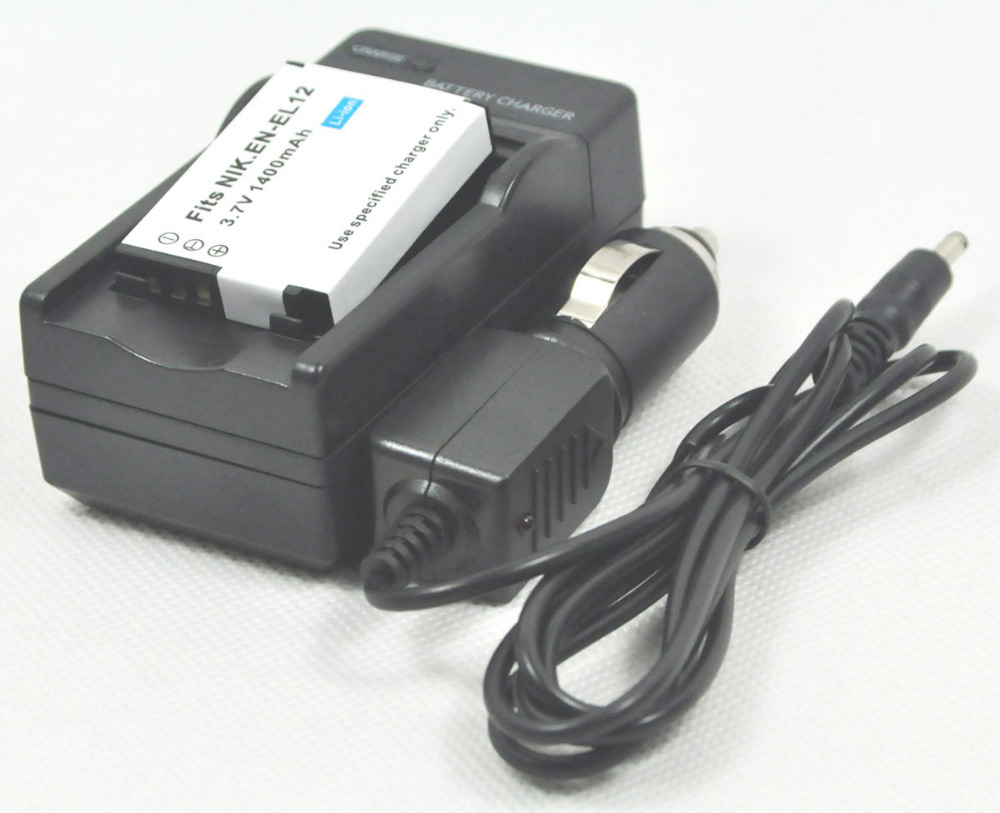 Бесплатная Доставка новая Батарея с Зарядным Устройством EN-EL12 ENEL12 для Coolpix AW100s AW110s AW120s AW130s
