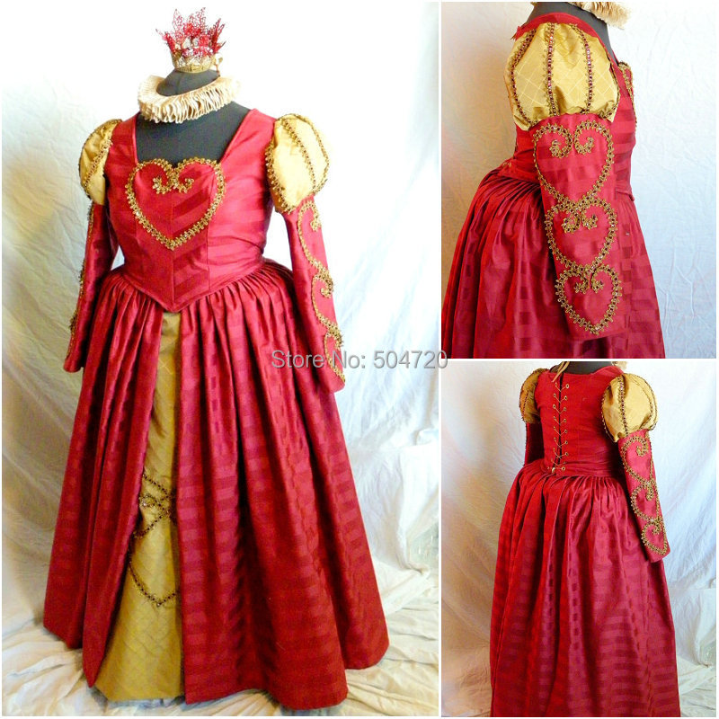 c3174c155ee81 R-448 Custom Made 1860 S İç Savaşı Gotik lolita Düğün Elbise/Victoria  elbiseler/Rönesans elbise Eski Kostümler