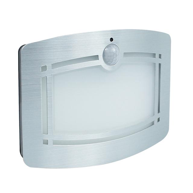 Inteligente body motion sensor led luz de la noche del led lámpara de pared luz del gabinete de interior de la lámpara con pilas para el dormitorio pasillo camino