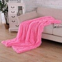 Super Soft Long Shaggy Fuzzy Fur Faux Fur Warm Elegant Cozy With Fluffy Sherpa Throw Blanket Queen Bedroom 130/160/200cm