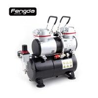 Fengda FD 196 oil free compressor AS1206 mini air pump body paint cake decorate tattoo