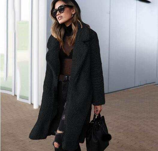 cheap prices fashion style new collection Winter Faux Fur Coat Women Warm Plus Size Teddy Bear Coat Black ...
