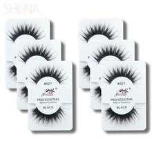 SHILINA 10 Pairs Beauty Fake Eye Lashes Black False Eyelashes Makeup Eyelash Extension Cosmetics 3051