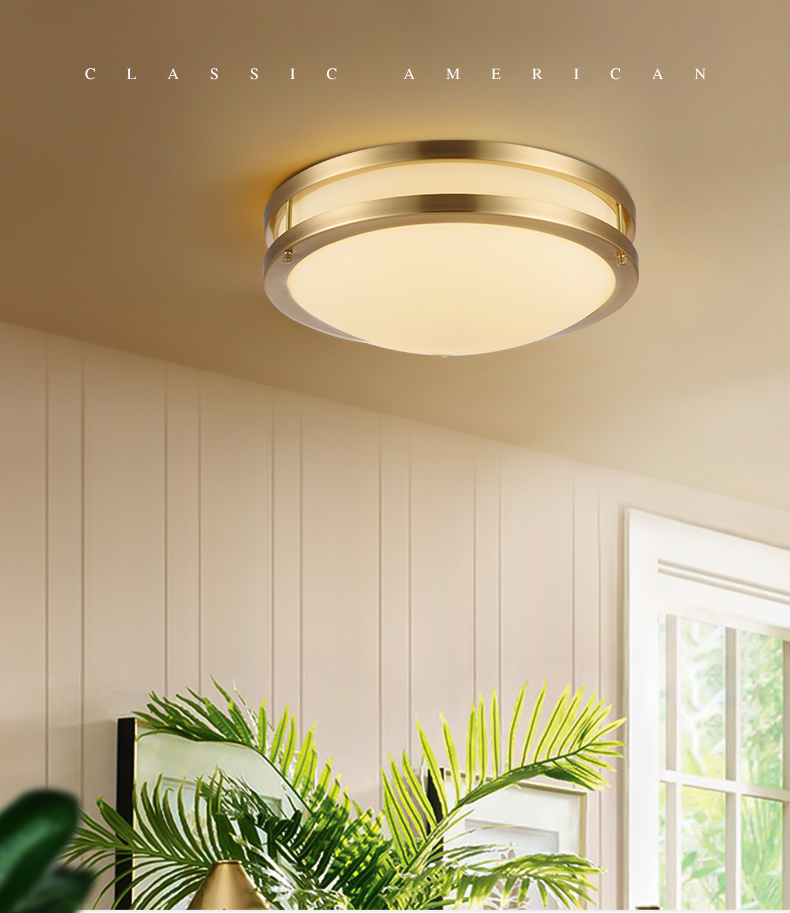 All Copper Led Panel Ceiling Lamp For
