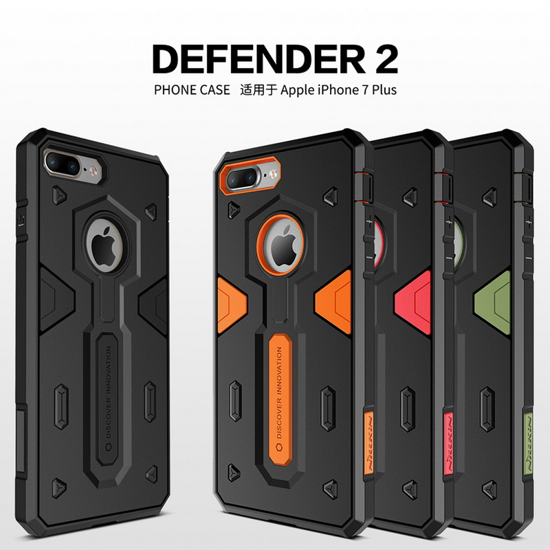 Sarung Perisai Shockproof Untuk Iphone 7 7 plus 6 6s plus iphone7 Iphone 8 plus Iphone X XR XS Max case NILLKIN Defender 2 Cover Belakang