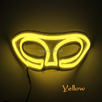 Mysterious EL Rope Tube Princess Mask Birthday Holiday Lighting Attractive Led Neon Light Venice Mask Nighttime Wine Party Decor