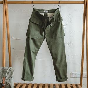 Image 2 - Maden hommes coupe décontractée jambe droite coton décontracté militaire Cargo pantalon de travail