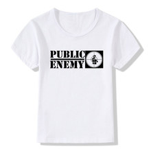 Girl And Boys Tshirt US Rap Team Public Enemy Funny T-shirt Children Short Sleeves Summer Tops Rock Cool Baby Tees Kids Clothes