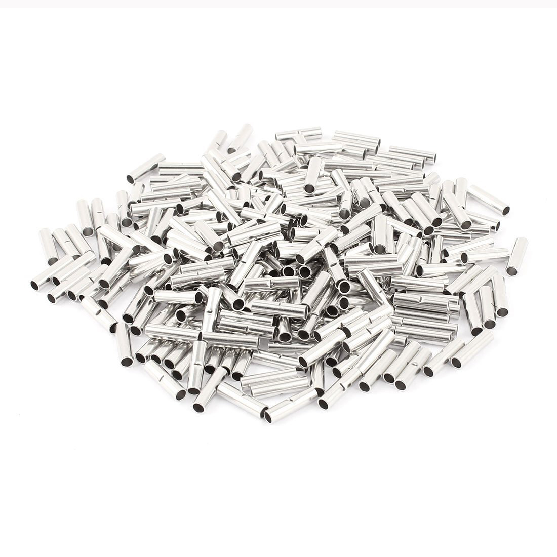 LHLL-300Pcs BN-2 Uninsulated Butt Connectors Terminal for 16-14 A.W.G Wire