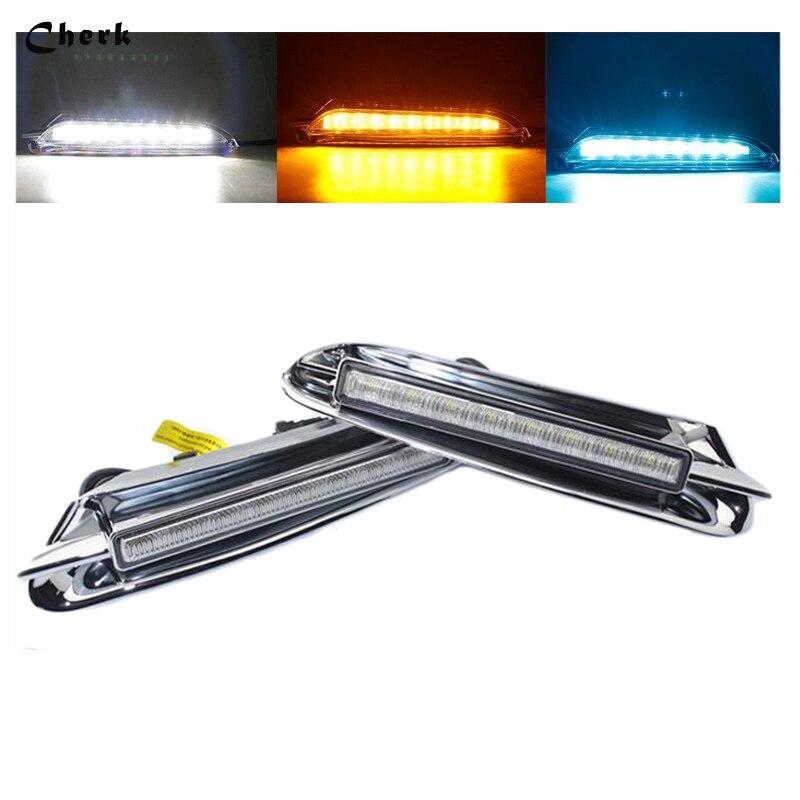 Headlight Hot! High Quality For Buick Encore Opel Mokka 2012 2013 2014 2015 DRL car styling white LED Daytime Running Light 2PCS