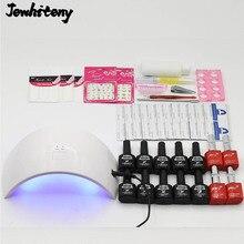 Newest UV LED Lamp 10 Color 10ml Soak off nail uv Gel Nail Base gel Top