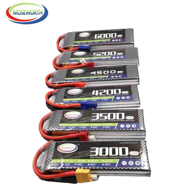 7.4V Bateria LiPo RC Zangão 2S 1300 2200 2800 3500 4200 5000 6000mAh 25C35C60C Para O Brinquedo DO RC helicóptero Aeronave Quadcopter Avião