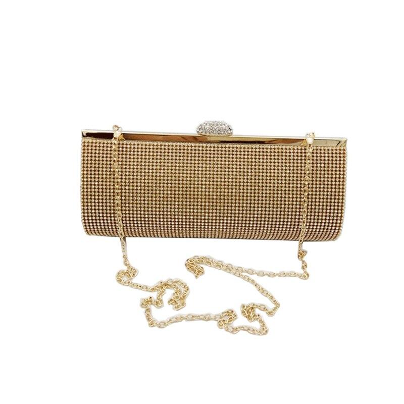 Women Rhinestone Evening Clutch Bag Ladies Gold Clutch Purse Chain Handbag Bridal Wedding Party ...