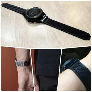 Image 5 - YOOSIDE No buckle Design 26mm Quick Fit Replacement Soft Silicone Sport large Watch Band Strap for Garmin Fenix 5X/3/3HR