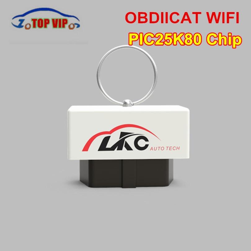 Date OBDIICAT ELM327 Wifi V1.5 OBD2 De Diagnostic-Outil Wifi/Bluetooth V1.5 avec PIC18F25K80 Pour Android/IOS iPhone