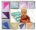 Детское одеяло новорожденного minky одеяло ручной работы пеленать обертывание супер-мягкие 80 * 73 шеврон младенца вязания крючком одеяла swaddleme