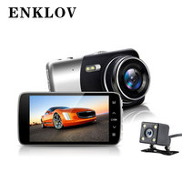 ENKLOV 3 7 Inch IPS Screen Car Camera Dual Recording Dash Camera FHD 1080P Video 170