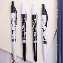 цена 1pcs/lot 0.5mm Lovely Cartoon Animal Ballpoint New Black And White Cat For School And Office Stationery And For Gift онлайн в 2017 году