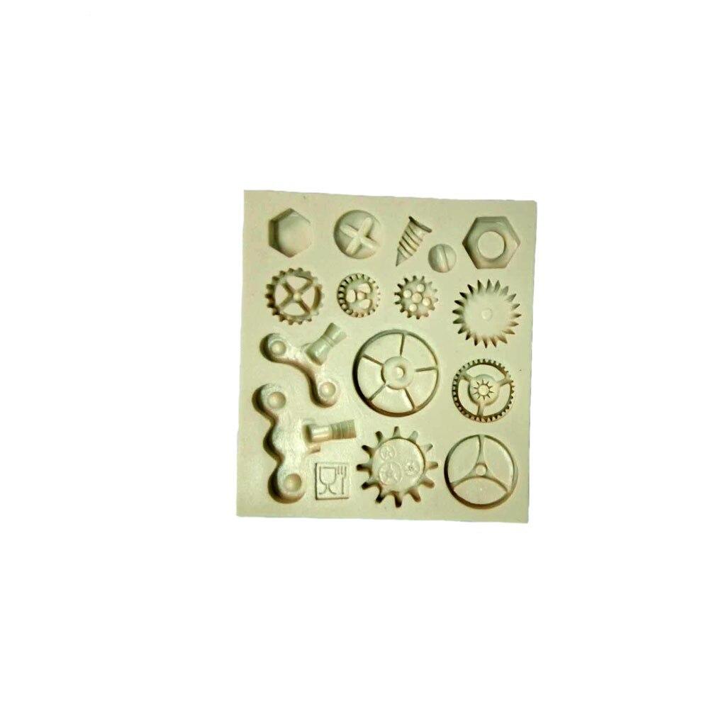 Cupcake Design Kitchen Accessories Aliexpresscom Buy Steam Punk Gears Cogs Design Mat Fondant