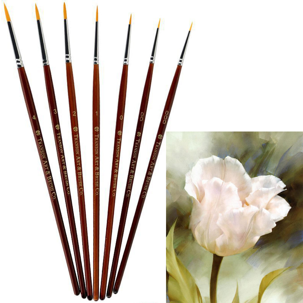 Nice 7pcs/set High Quality Miniature Hook Line Pen Fine Watercolor Paint Brush Set For Drawing Gouache Oil Painting Brush Art Supply Crazy Price Painting Supplies Paint Brushes