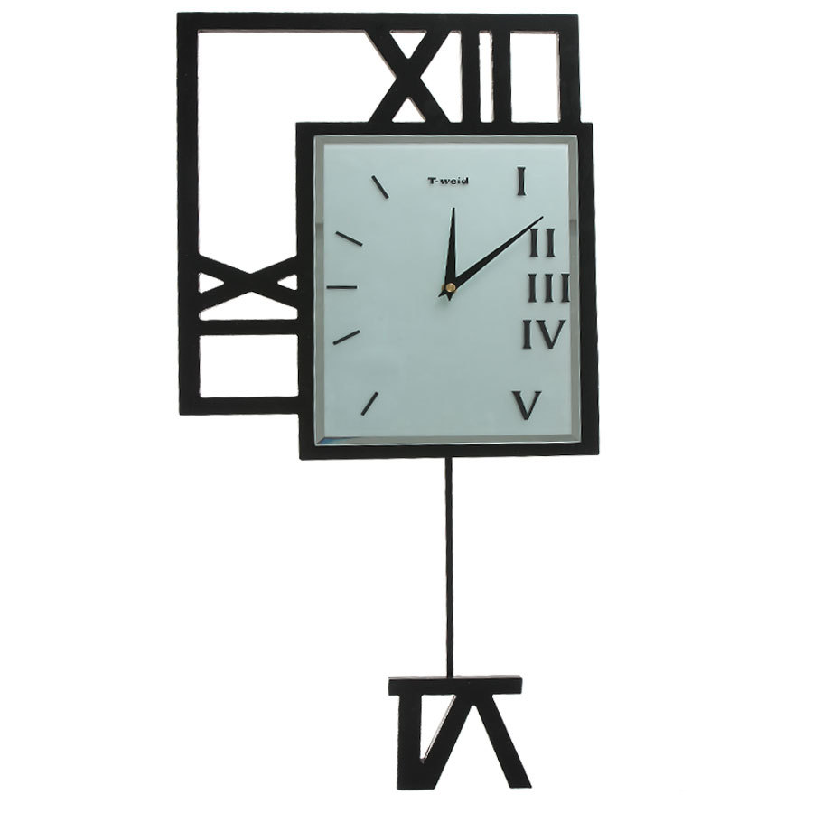 Fashion modern large wall clocks quieten pendulum clock personality roman numerals us922 - Stylish pendulum wall clock ...