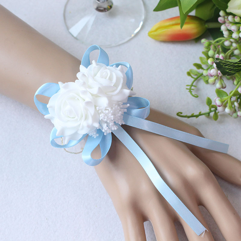 Wrist Flower Bridesmaid Hand Flowers wedding corsage  (2)