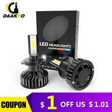 Светодиодная лампа для автомобильных фар, 9006 лм, 9005 лм