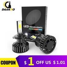 F2 led רכב פנס LED הנורה 9006 HB4 H1 9005 H10 HB3 H4 9003 HB2 H8 H9 H11 H7 4000lm אוטומטי מנורות ערפל אורות Canbus Dropshipping