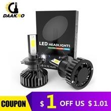F2 led車のヘッドライトled電球9006 HB4 H1 9005 H10 HB3 H4 9003 HB2 H8 H9 H11 H7 4000lm自動lampsフォグランプcanbusドロップシッピング