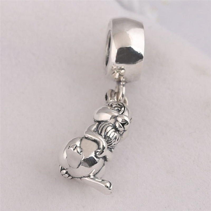 Jewelry & Accessories Authentic 925 Sterling Silver Animal Pendant Bead Monkey Hanging Charm Fit Original Pandora Bracelet Bangle Women Diy Jewelry Quality First Beads