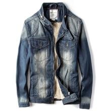 Винтажные мужские толстые теплые зимние джинсовые куртки и пальто европейский и американский стиль бархатные зимние пальто мужские дизайнерские C1441