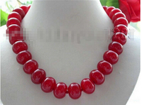 Free shipping >>@ >818 18 Natural stone 18mm Red * Necklace